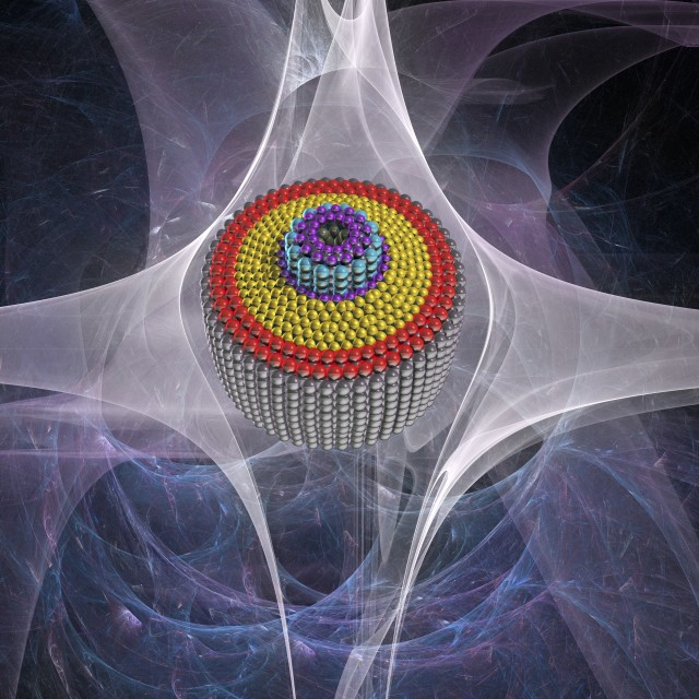 """Differential nanogear, artwork"" stock image"
