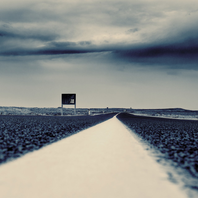 """""""White line on road"""" stock image"""