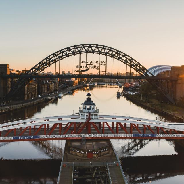 """Tyne bridge Sunrise"" stock image"