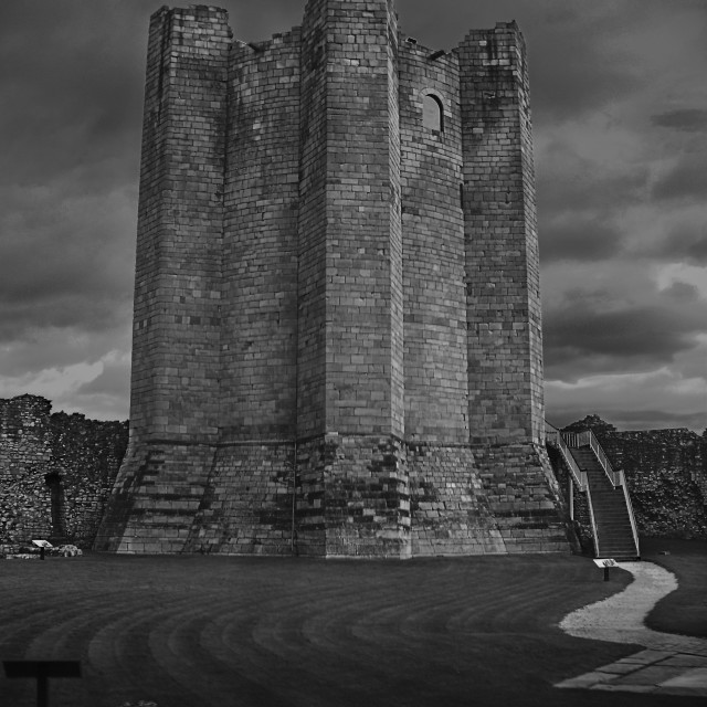 """Conisborough Castle Keep"" stock image"