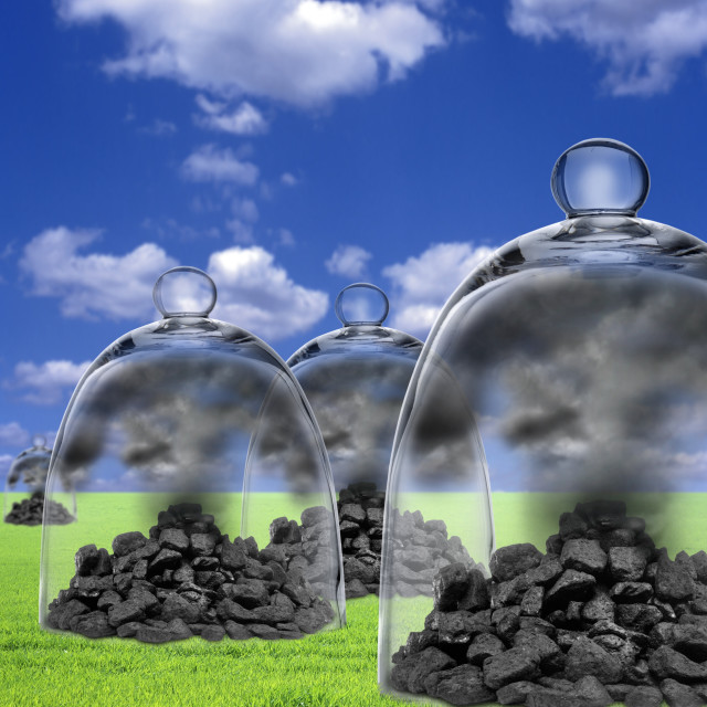 """Carbon capture and storage"" stock image"