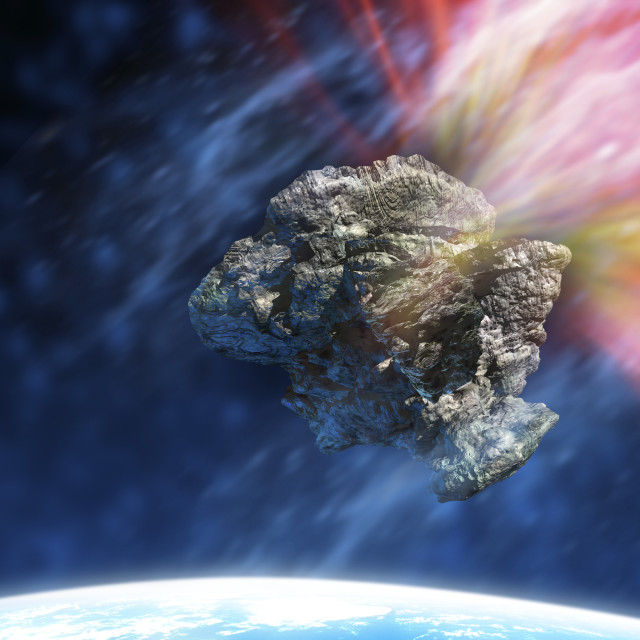 """""""Asteroid in space"""" stock image"""