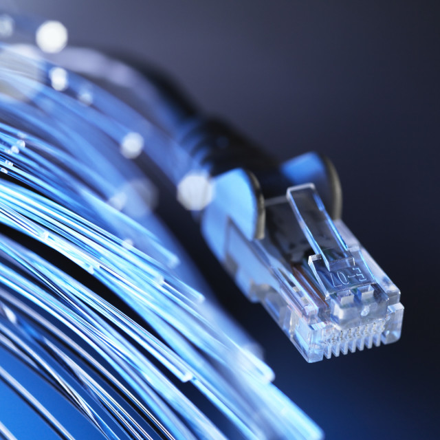 """Fibre Optics"" stock image"