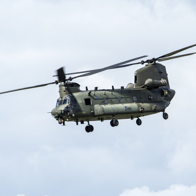 """Chinook Helicopter"" stock image"