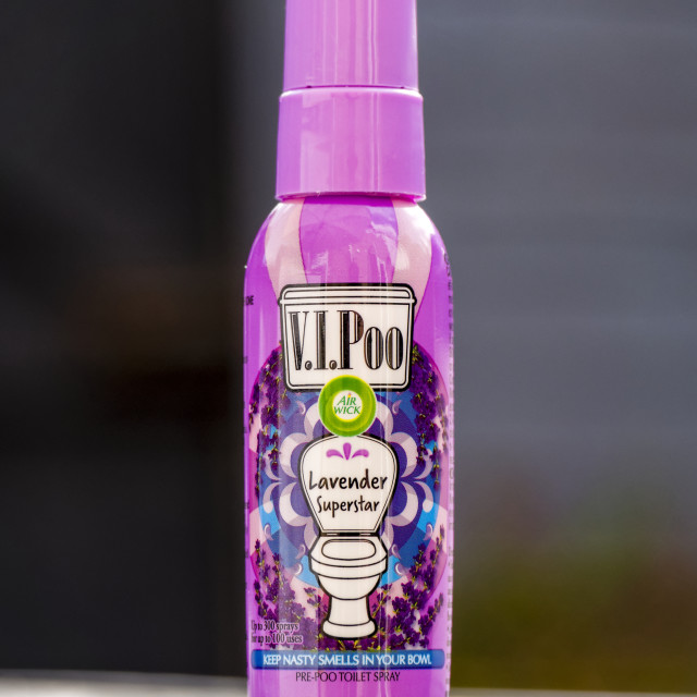 """V.I.Poo Air Freshener"" stock image"