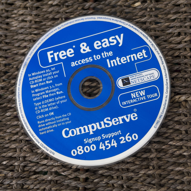 """Compuserve Internet Installation CD"" stock image"