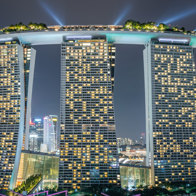 """Marina Bay Sands Hotel"" stock image"