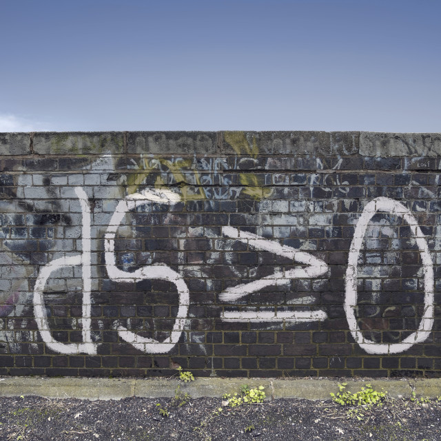 """Formula for entropy painted on old wall"" stock image"