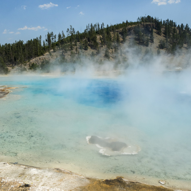 """Hot spring in Yellowstone NP"" stock image"