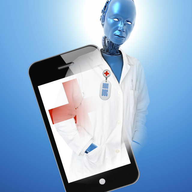 """Android doctor, illustration"" stock image"