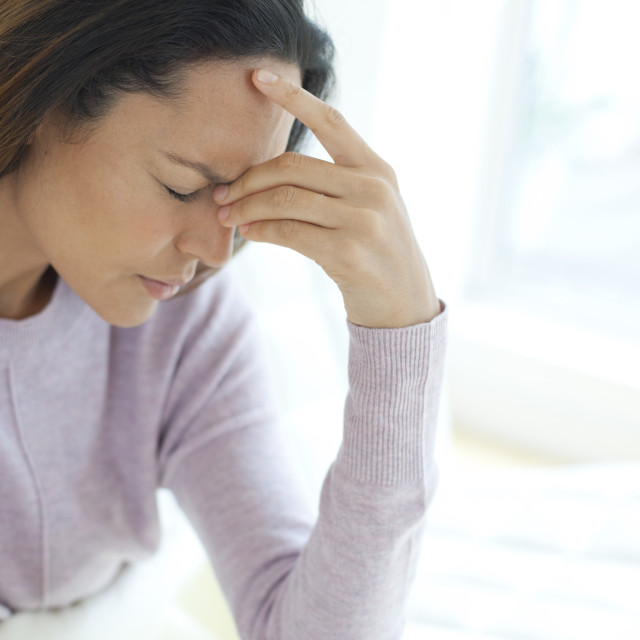 """Young woman feeling unwell"" stock image"