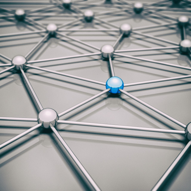 """Network, conceptual illustration"" stock image"