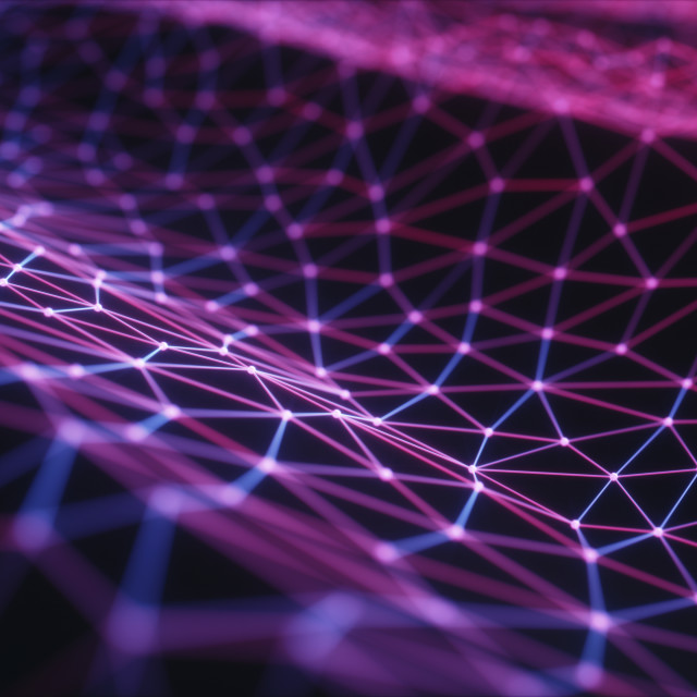 """""""Purple connecting lines, illustration"""" stock image"""