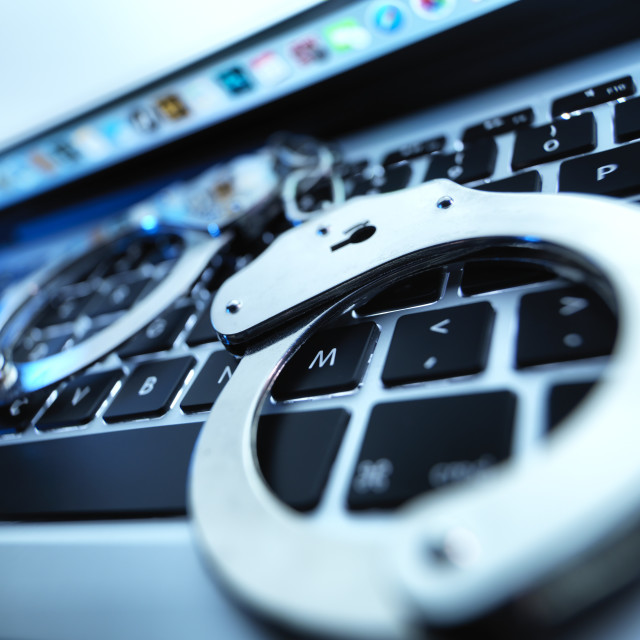 """""""Cyber crime"""" stock image"""