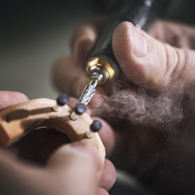 """Making dental prosthesis"" stock image"