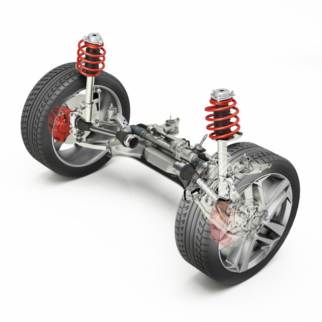 """""""Car suspension and brakes, illustration"""" stock image"""