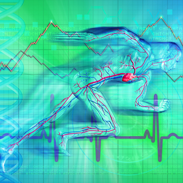 """""""Illustration of heartbeat graph of a man"""" stock image"""