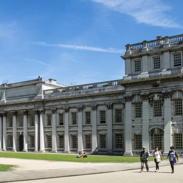 """Greenwich Naval College London"" stock image"