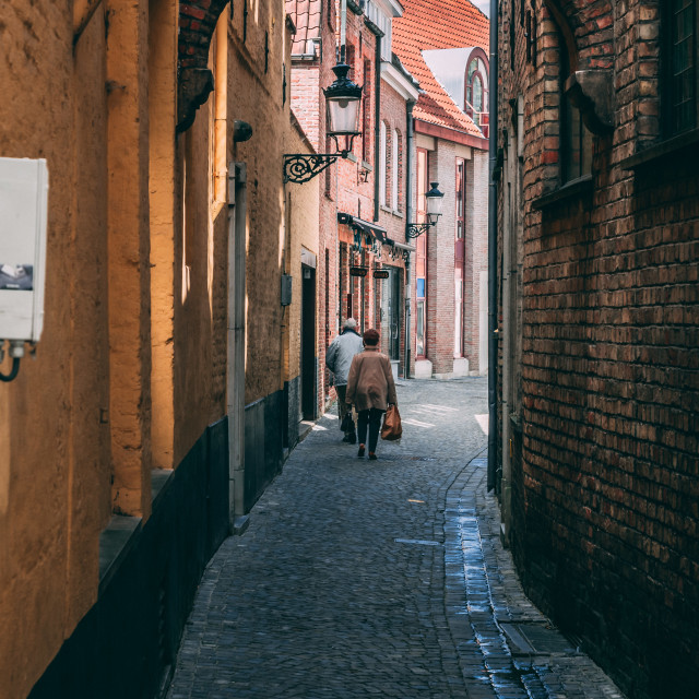"""""""Brugge Ally"""" stock image"""