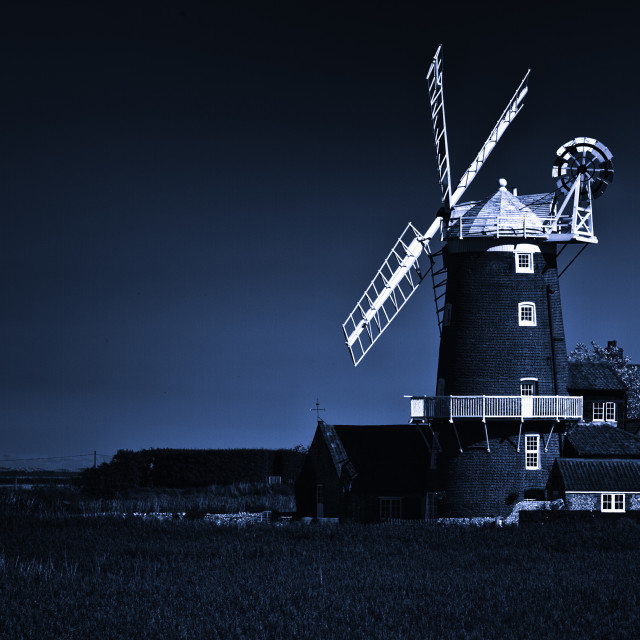 """The Windmill at Cley by the Sea, Norfolk, UK"" stock image"