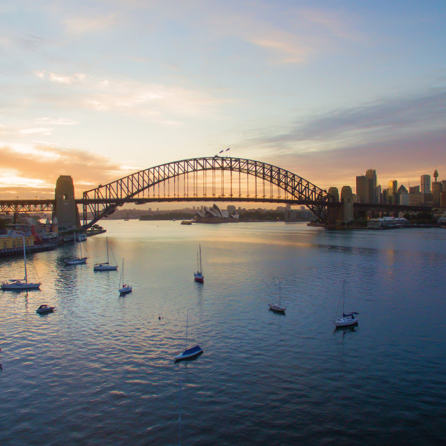 """Sunrise at Sydney"" stock image"