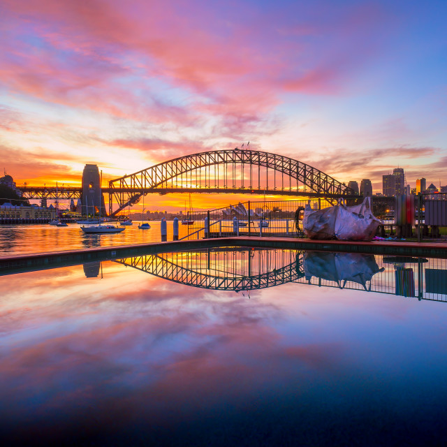 """Majestic sunrise at Sydney"" stock image"