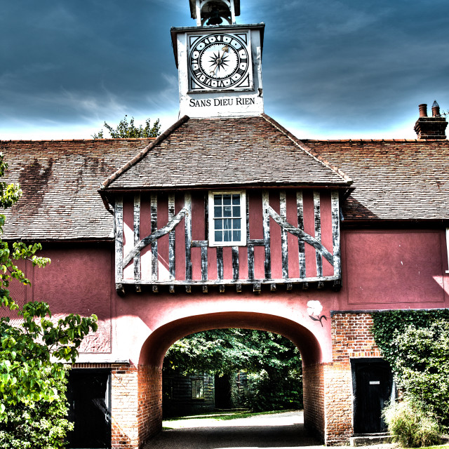 """Ingatestone Hall Gatehouse"" stock image"