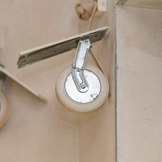 """Window shutter strap"" stock image"