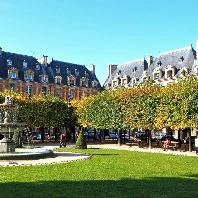 """""""Place des Vosges"""" stock image"""