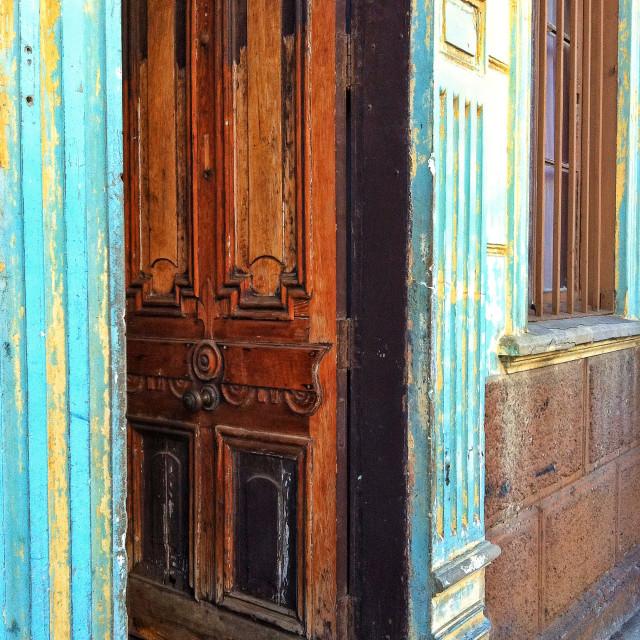 """Door of Valparaiso"" stock image"