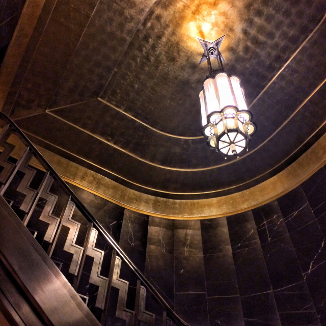 """Chrysler Building Interior"" stock image"
