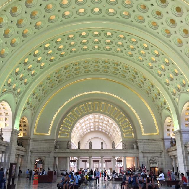 """Union Station, DC"" stock image"