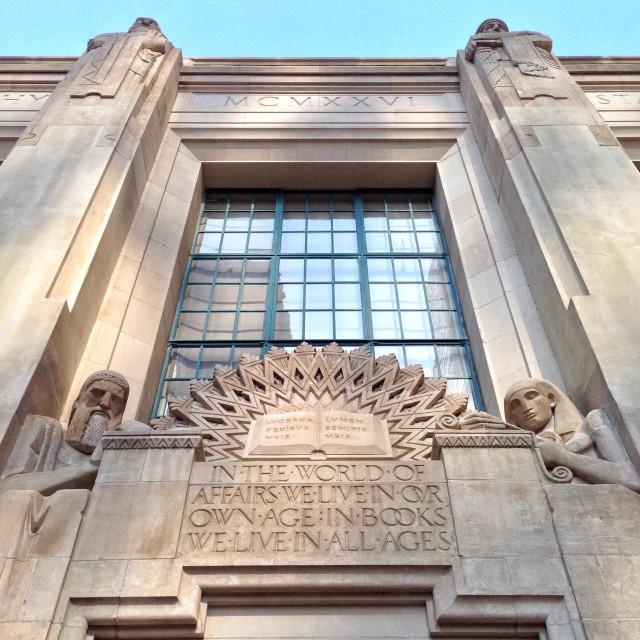 """""""LA Public Library"""" stock image"""