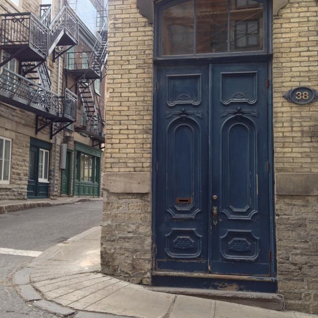 """""""Doors of Quebec"""" stock image"""