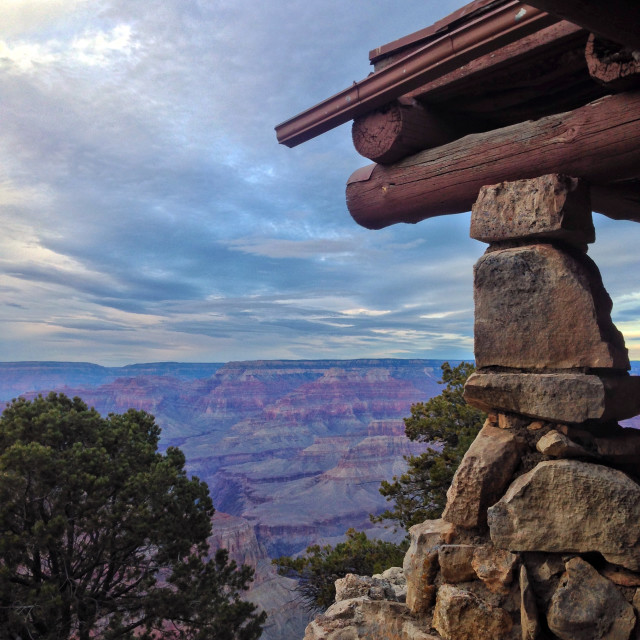 """""""Hermit's Rest, Grand Canyon"""" stock image"""