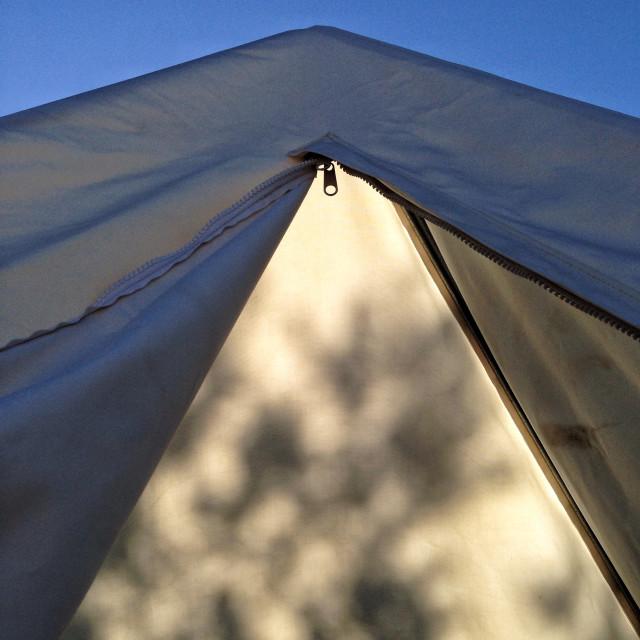 """Tent shadow"" stock image"