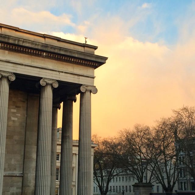 """""""British Museum at Sunset"""" stock image"""