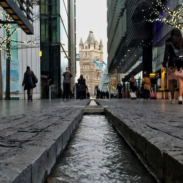 """Tower Bridge view"" stock image"