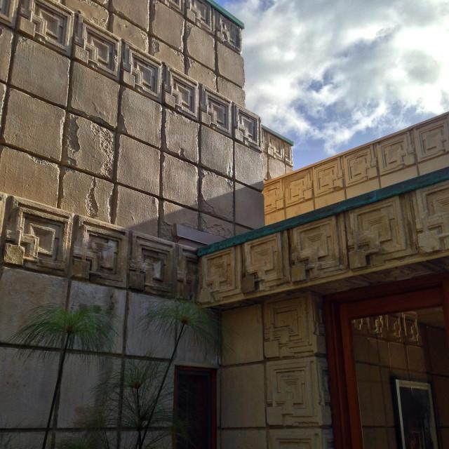 """Ennis House, Los Angeles"" stock image"