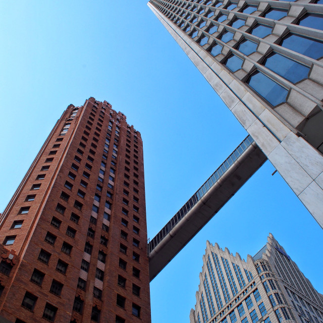 """Downtown Detroit"" stock image"