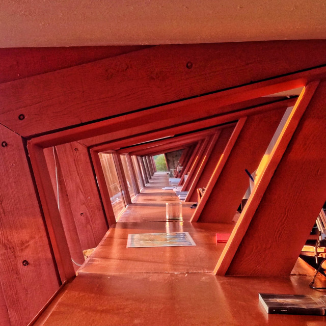 """""""Taliesin West Angles"""" stock image"""