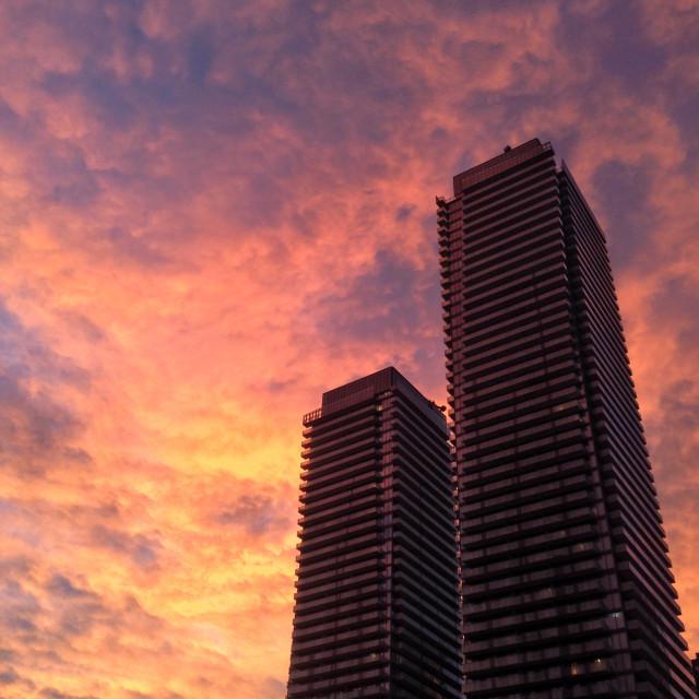 """Condo sunset"" stock image"