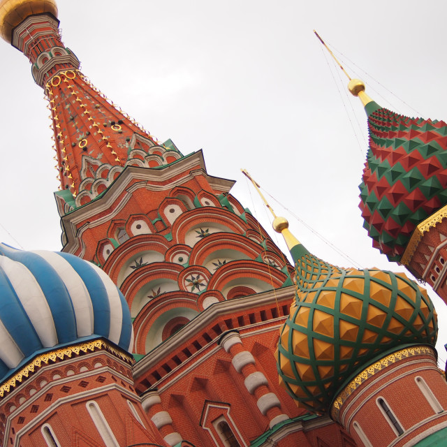 """St. Basil's Cathedral in Moscow"" stock image"