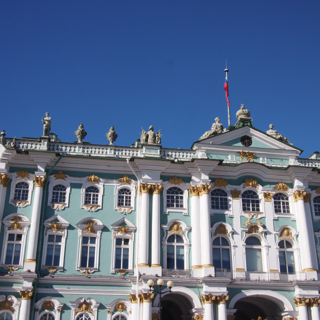 """""""Hermitage Museum in the Sunshine"""" stock image"""