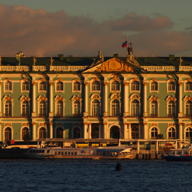 """""""Hermitage Museum at Sunset"""" stock image"""