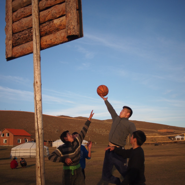 """Slam Dunk in Mongolia"" stock image"