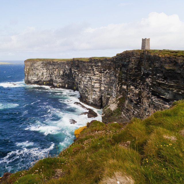 """Marwick Head Rspb Nature Reserve, Kitcheners Monument; Orkney, Scotland"" stock image"