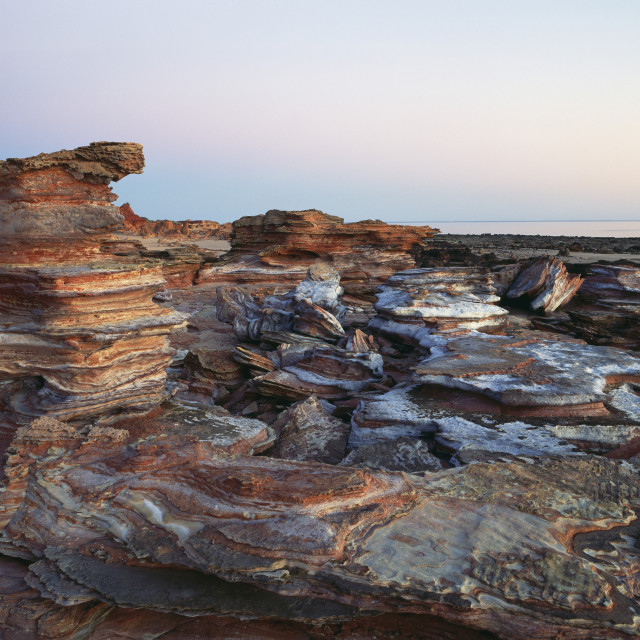 """Gantheaume Point At Sunset; Broome, Australia"" stock image"