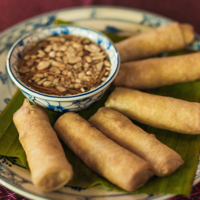 """""""Spring Rolls, Khmer Style; Siem Reap, Cambodia"""" stock image"""