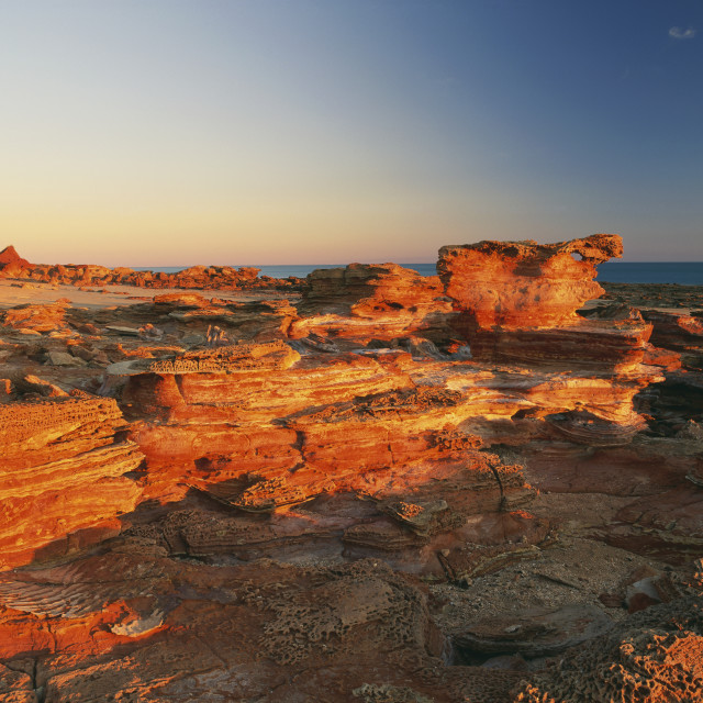 """Gantheaume Point At Sunset; Broome, Kimberley, Western Australia, Australia"" stock image"